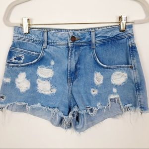 ZARA CUT OFF JEAN SHORTS SZ 4